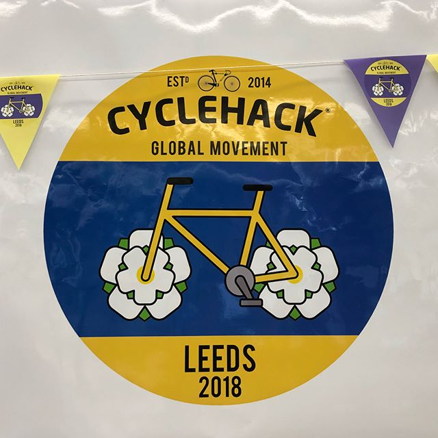 We've been running our day two of the global #cyclehack at Leeds. What a great gang, they're moving into making prototypes this afternoon to take on the shower problem to confidence in cycling.
