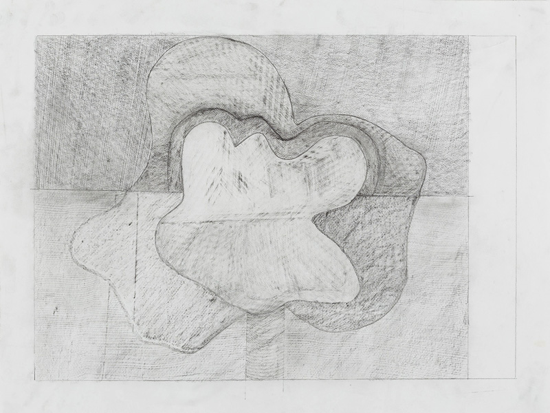 "Drawing 3,  2013. Graphite on paper. 18""x24"""