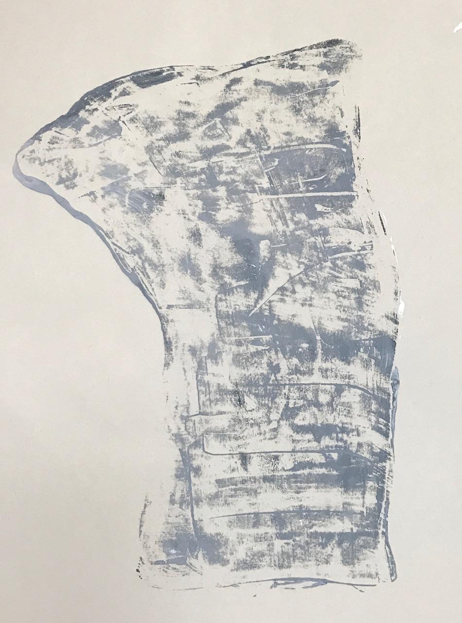 "Torso (study),  2015. Acrylic on paper. 16""x14"""