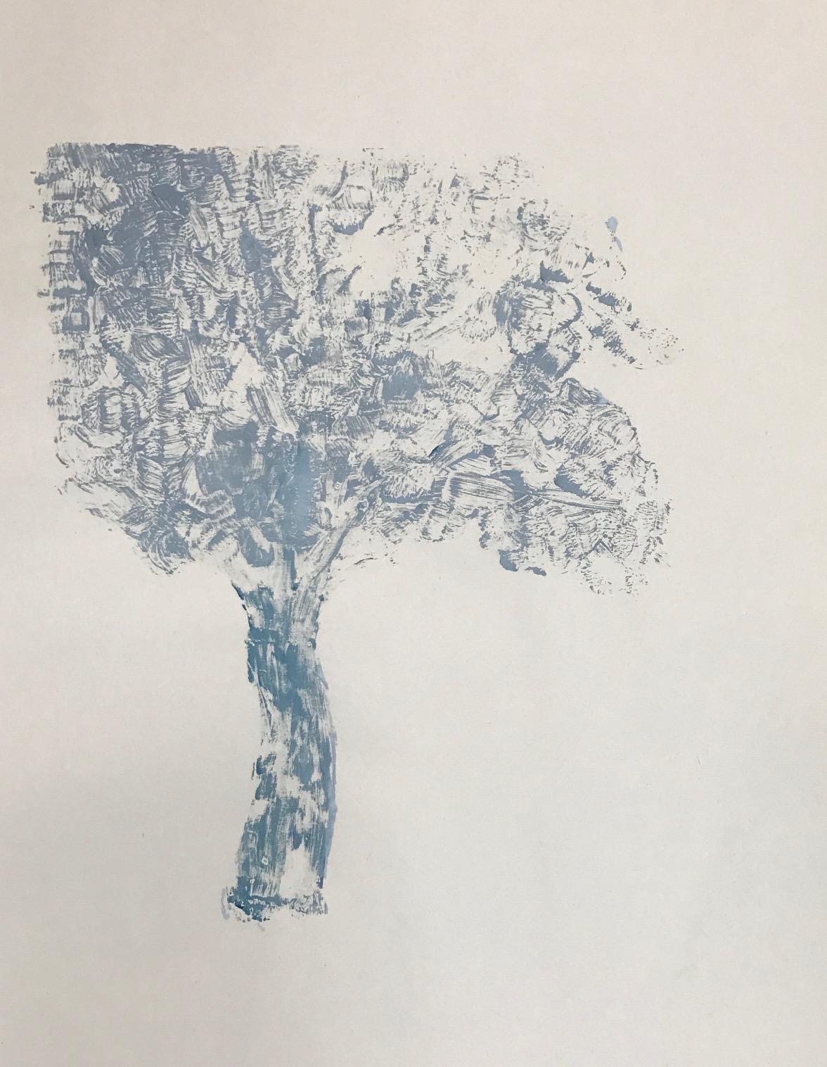 "Tree,  2015. Acrylic on paper. 17""x15"""