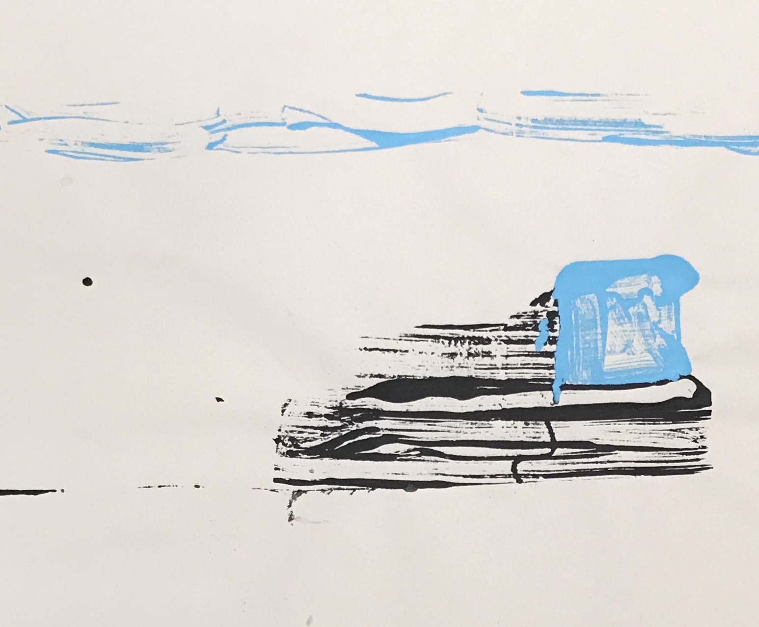 "Sneaker,  2015. Acrylic on paper. 13""x17"""