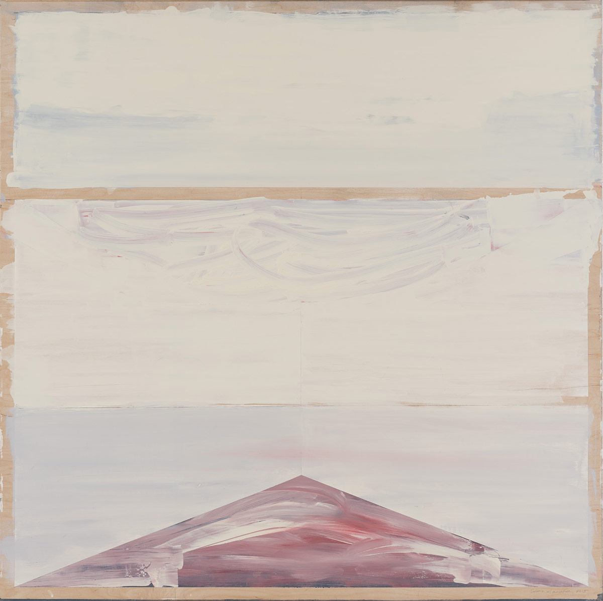 """Landscape with road,  2014. Acrylic and acrylic polymer on wood panel. 48""""x48"""""""