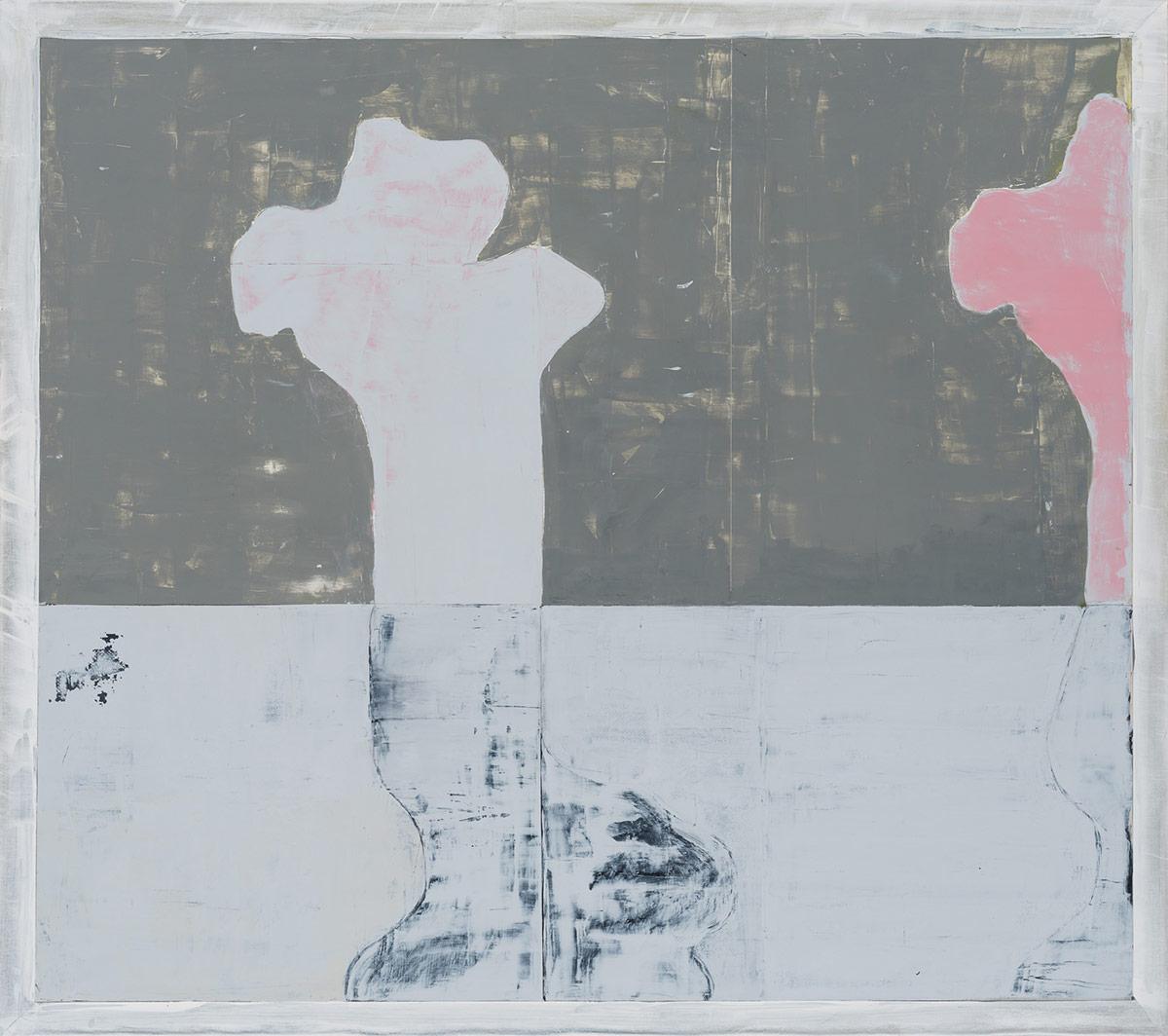 "Metamorphose #2,  2014. Acrylic, acrylic polymer and graphite on wood panel. 48""x48"""