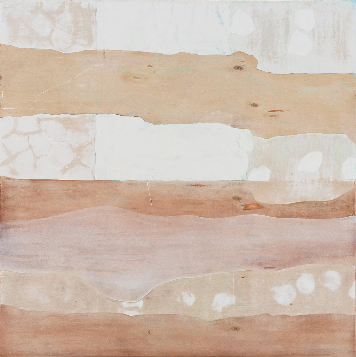 """Landscape with Fallen Trees,  2015. Acrylic, acrylic polymer and graphite on wood panel. 48""""x48"""""""