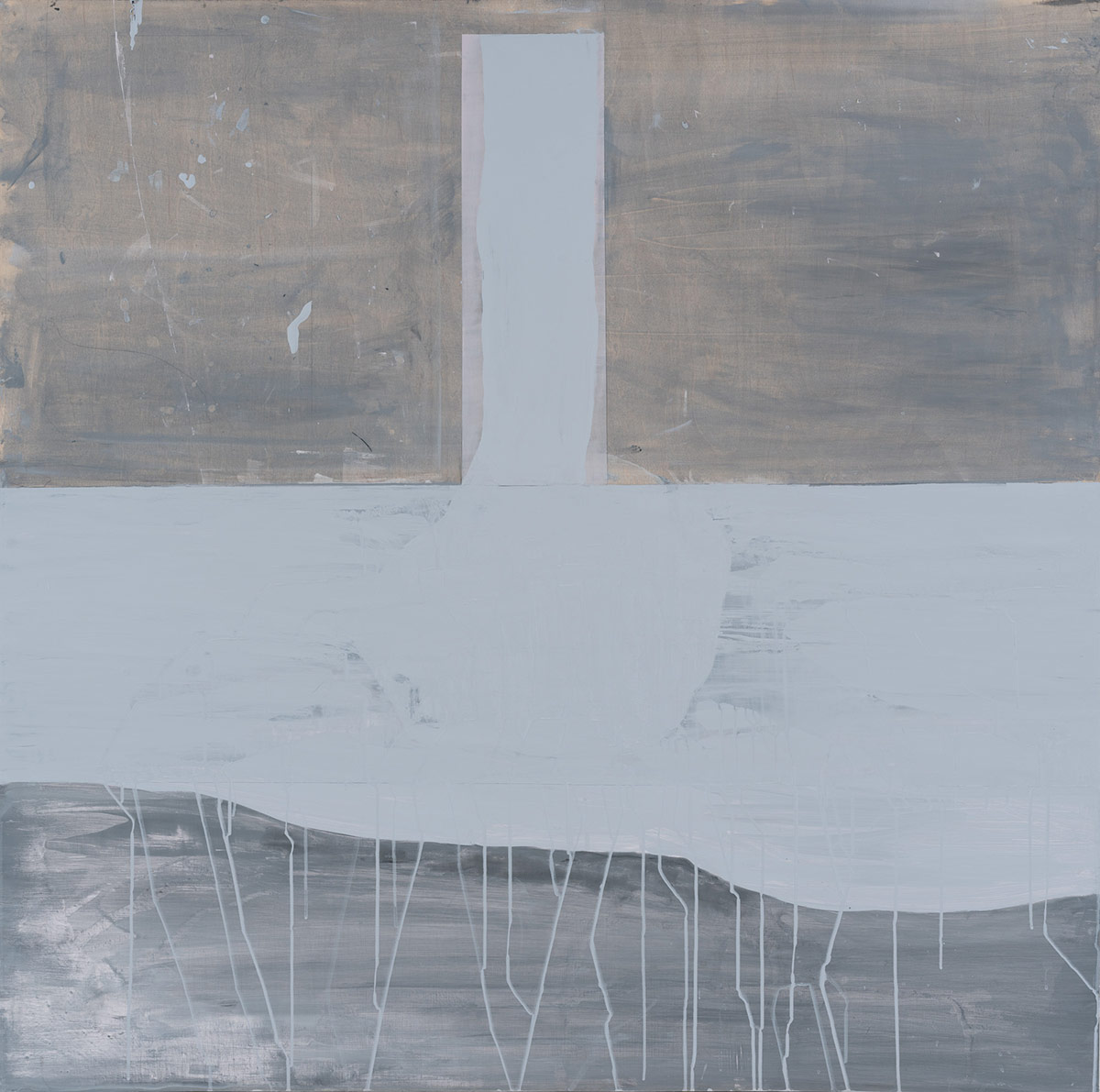 """Event Ground,  2014. Acrylic, acrylic polymer and graphite on wood panel. 48""""x48"""""""