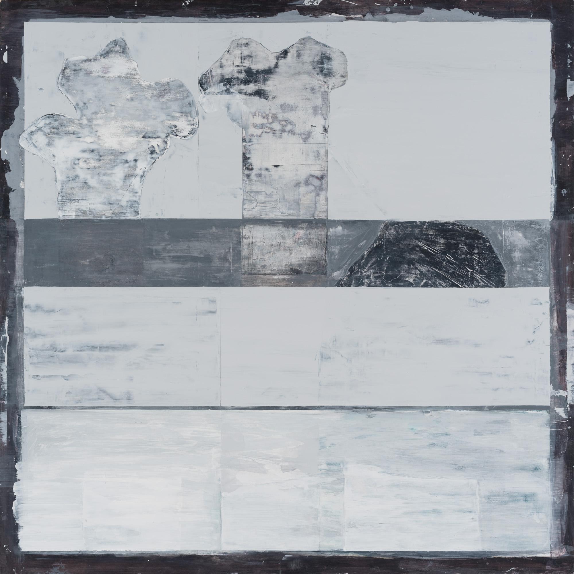 "Metamorphose #3,  2014. Acrylic, acrylic polymer and graphite on wood panel. 48""x48"""