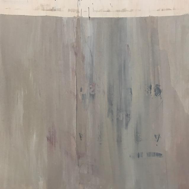 "Paneling c. 1967,  2017. Acrylic, acrylic polymer and graphite on wood panel. 2016. 48""x48"""