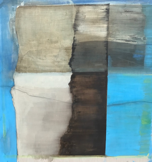 "Tree with coastline,  2016-17. Acrylic, acrylic polymer and graphite on wood panel. 48""x48"""