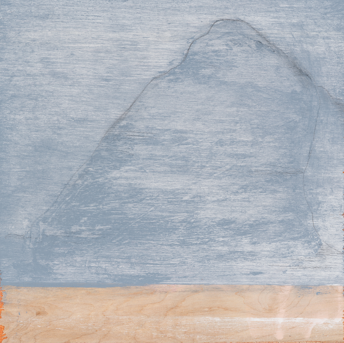 """Mountain after a Chinese painting , 2016. Acrylic and graphite on wood panel. 10""""x10"""""""