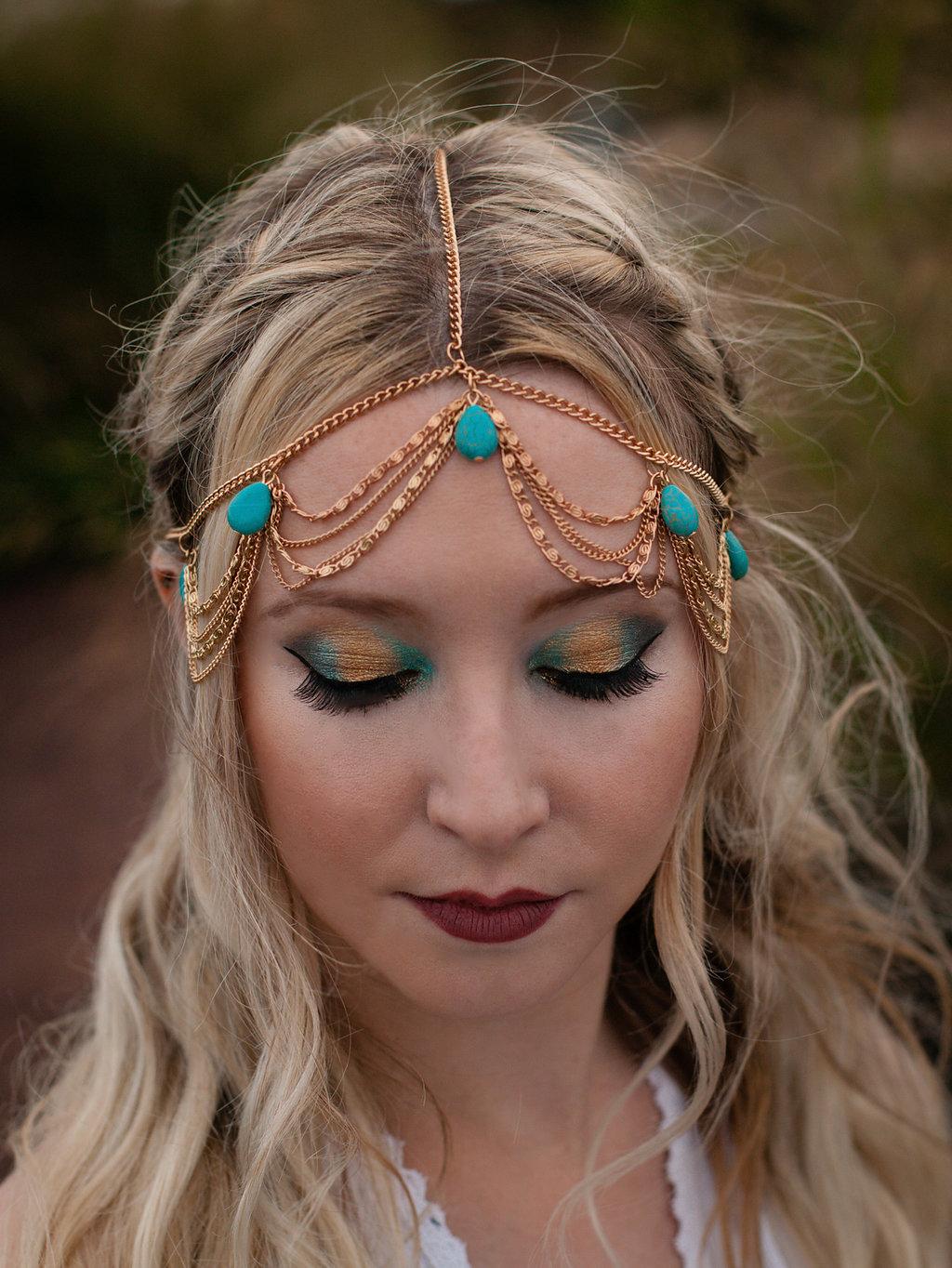Make-Up and Hair for Bohemian Shoot