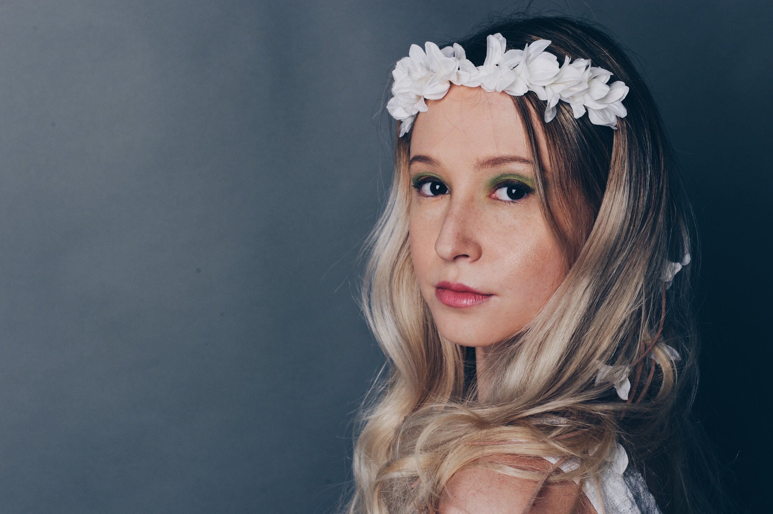 Make-Up and Hair for Bohemian Wedding Look