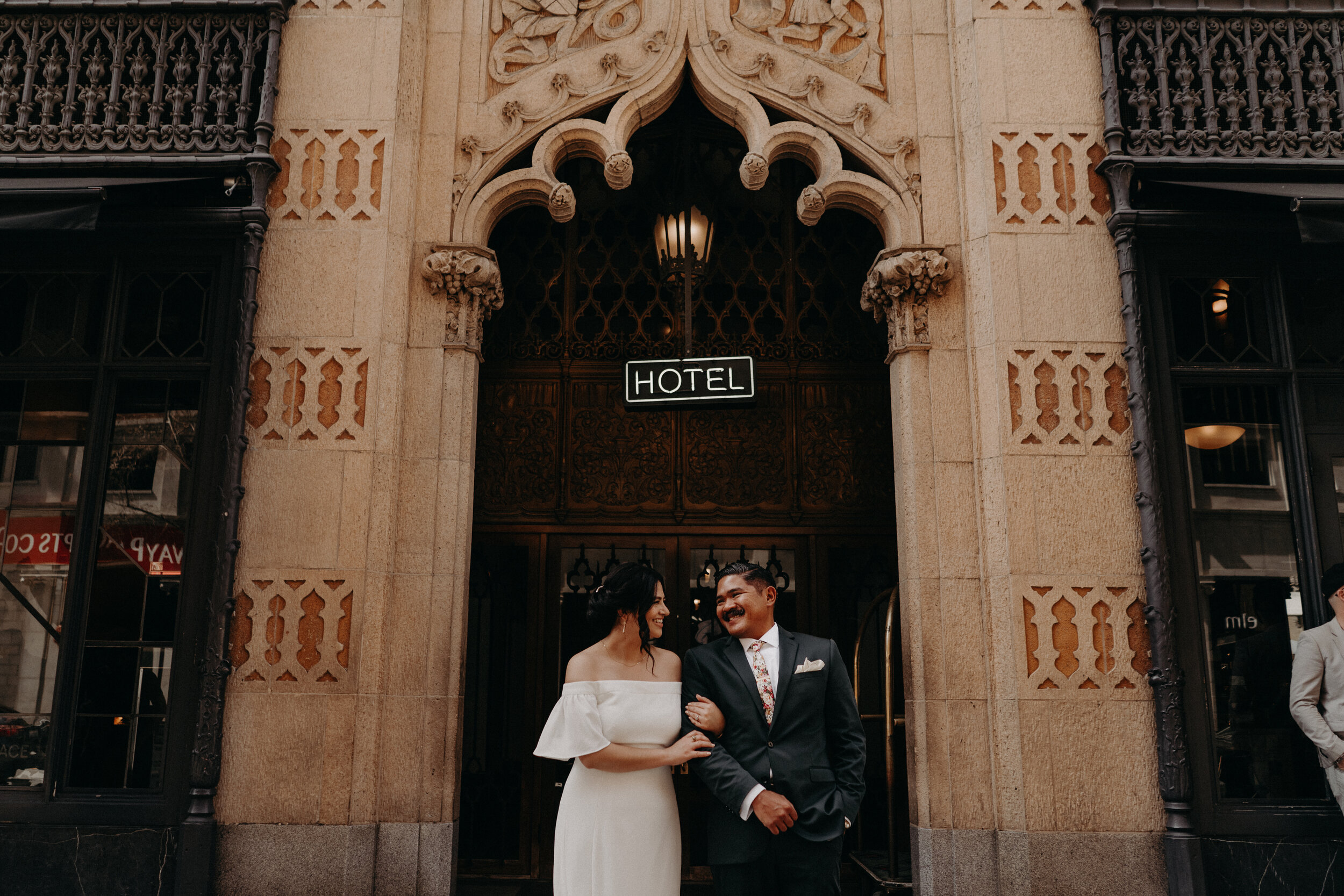 Colorful & BoldAce Hotel DTLAWedding - Belen + Ray are just the BEST. They love their dogs, love all thingsvintage and wanted to blend their cultures together for theirwedding. The two got ready at the Ace Hotel in Downtown LosAngeles & promised their love to each other at City Libre.