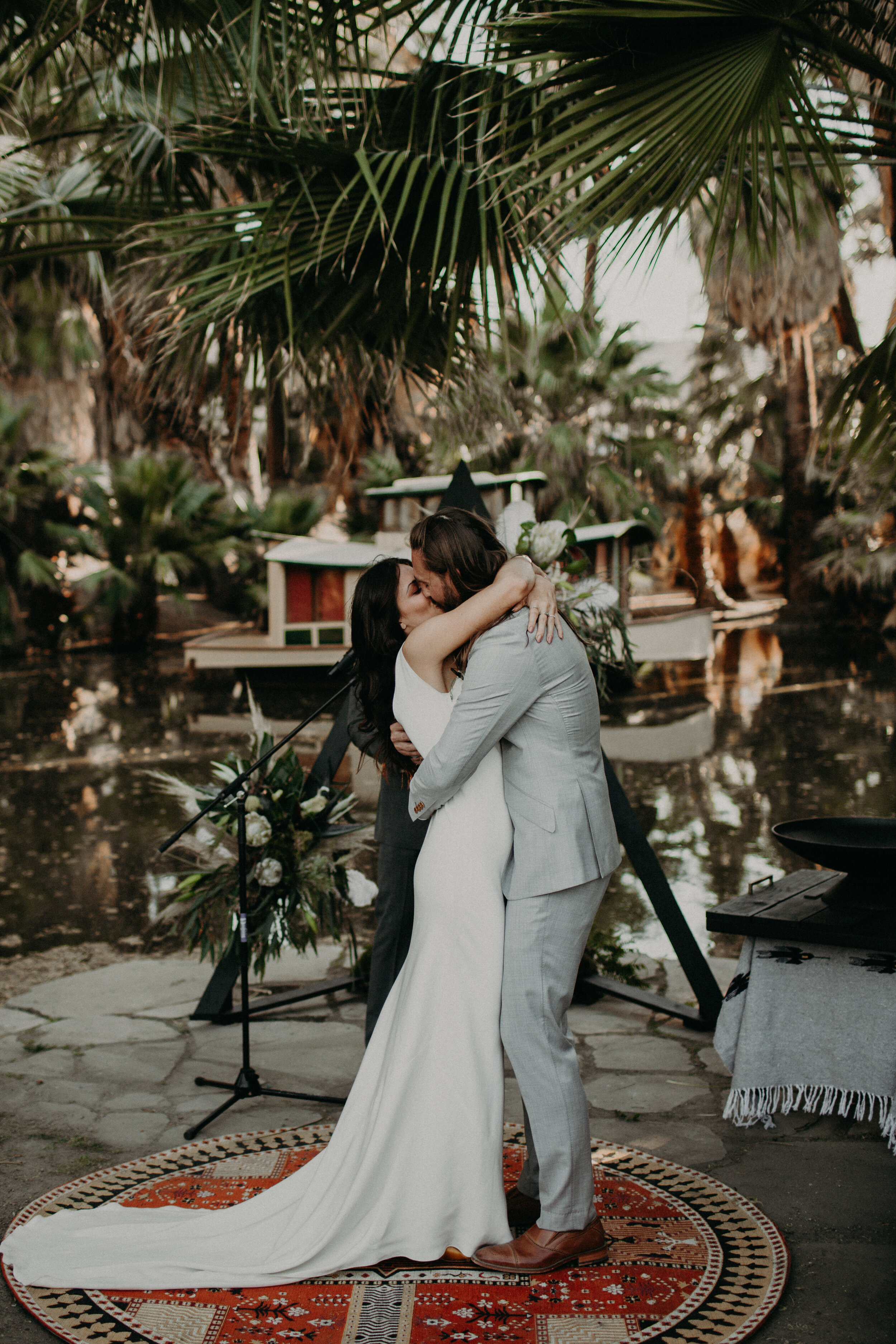 Magic DesertNuptials at29 Palms Inn - Kayla + Darren are absolute spitfires. They've been together forover a decade and you'd think they started dating three monthsago. Love and laughter and joy surrounded these two asthey tied the knot at 29 Palms Inn near Joshua Tree National Park.