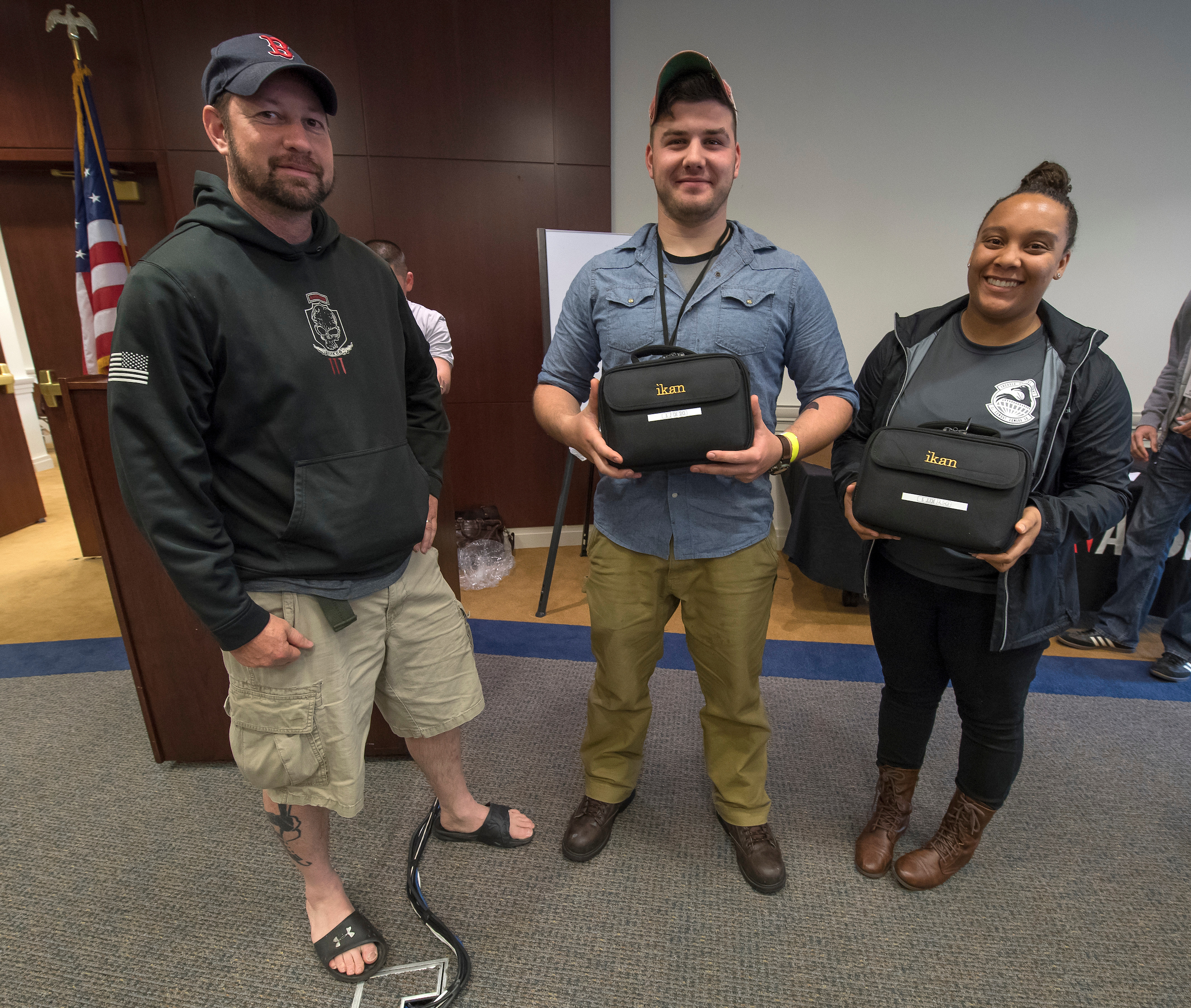 "The CAPRA Award for Best In Editing is awarded to team members Ashley Mikaio and Aaron Bratcher (mentored by Brehl Garza) for their film ""Powerful Divider."" Ashley & Aaron received a new D5W LCD Monitors sponsored by Ikan."