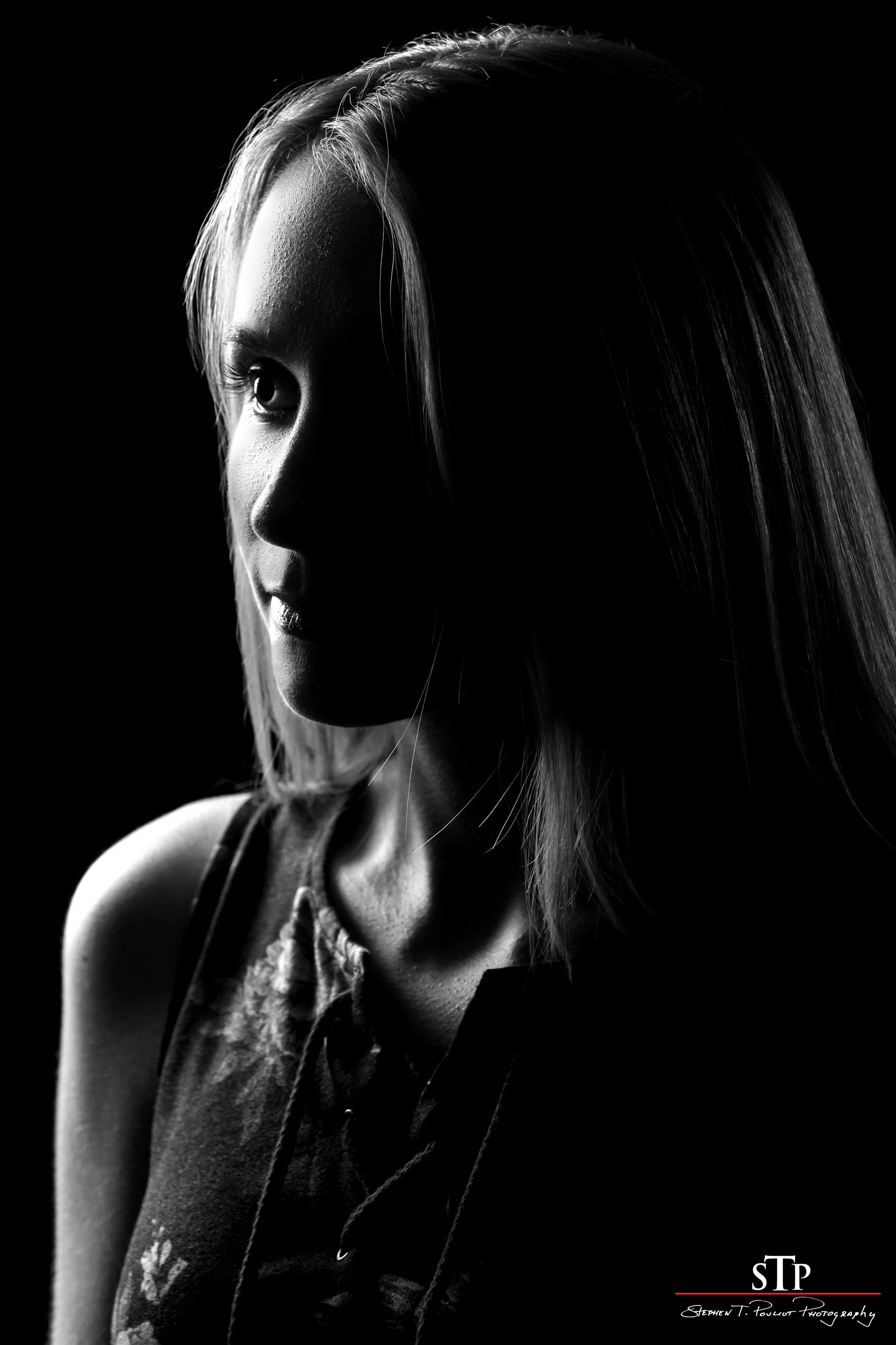 low key lighting portrait