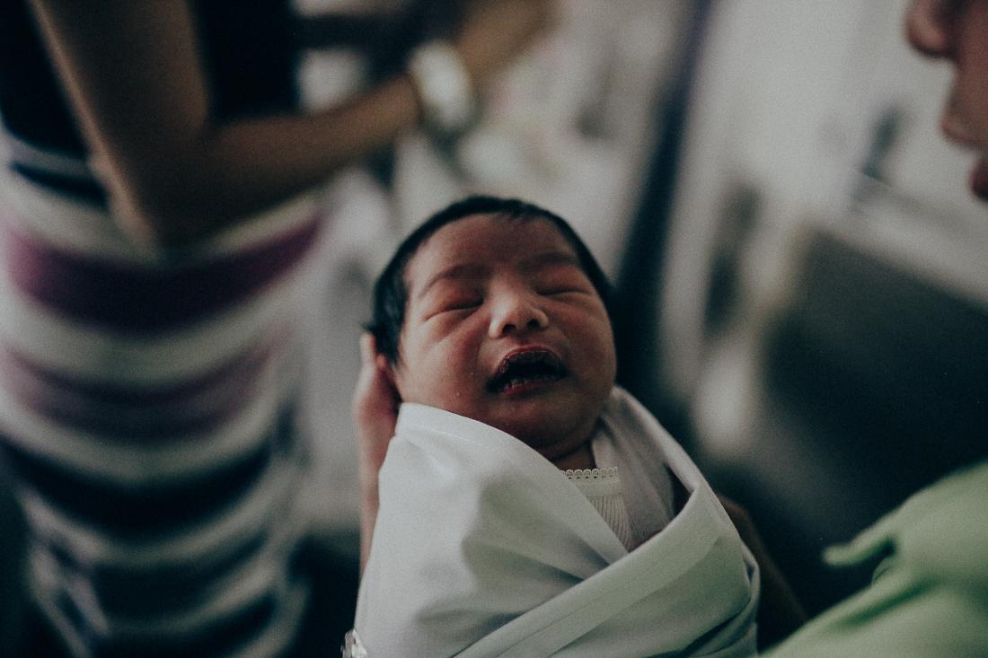 Newborn baby at hospital