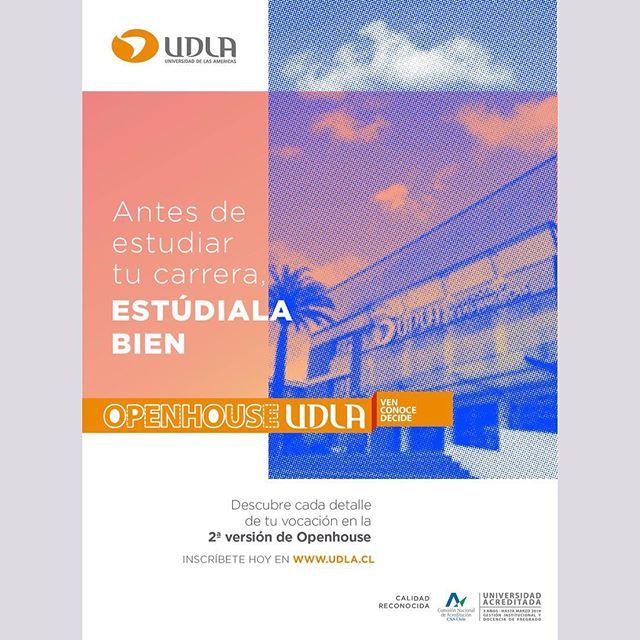 El afiche que hice en cabeza para la campaña de openhouse, segundo semestre de UDLA. #poster, #advertising, #layout