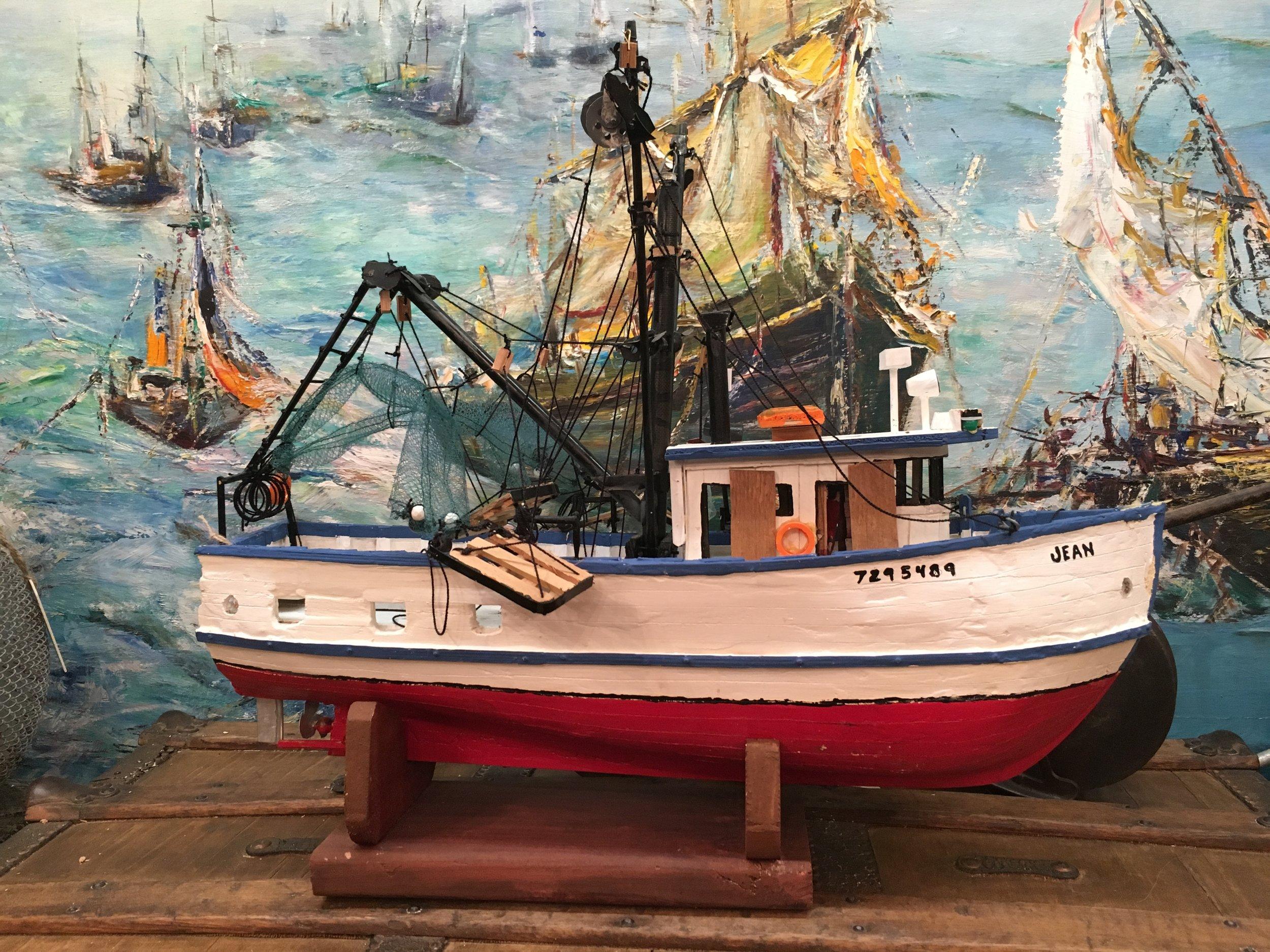 Handmade shrimp boat