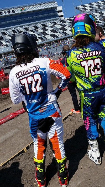 Both Tyler and Adam are amongst the most popular riders in the pits.