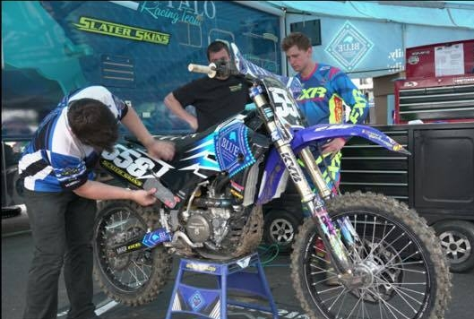 Broc's team has an extremely high level of dedication when it comes to their bikes and riders. Hoss is team's mechanic and works as hard as anyone to make sure that the bikes are ready to go before each race.