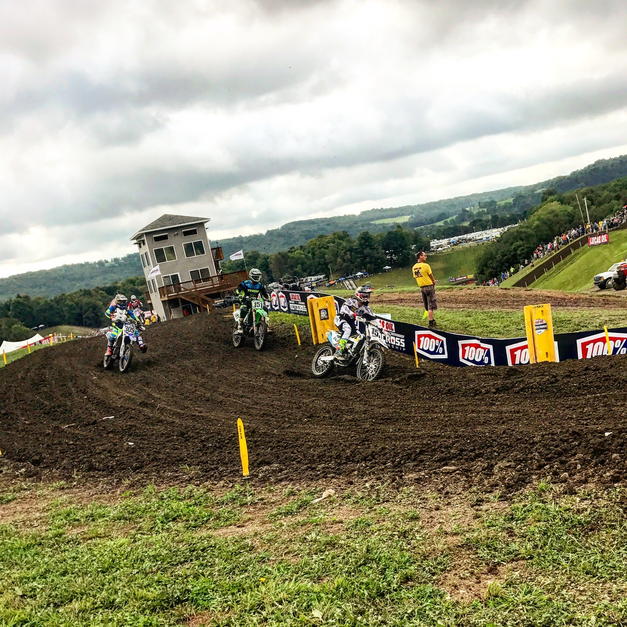 The Unadilla track is one of the favorites for both fans and riders alike.  The dirt is some of the best around and the jumps and hills add to the interest and excitement.  The 450 riders found it especially fun as the track broke in and the lines began to develop allowing them to really push their machines to the limits.