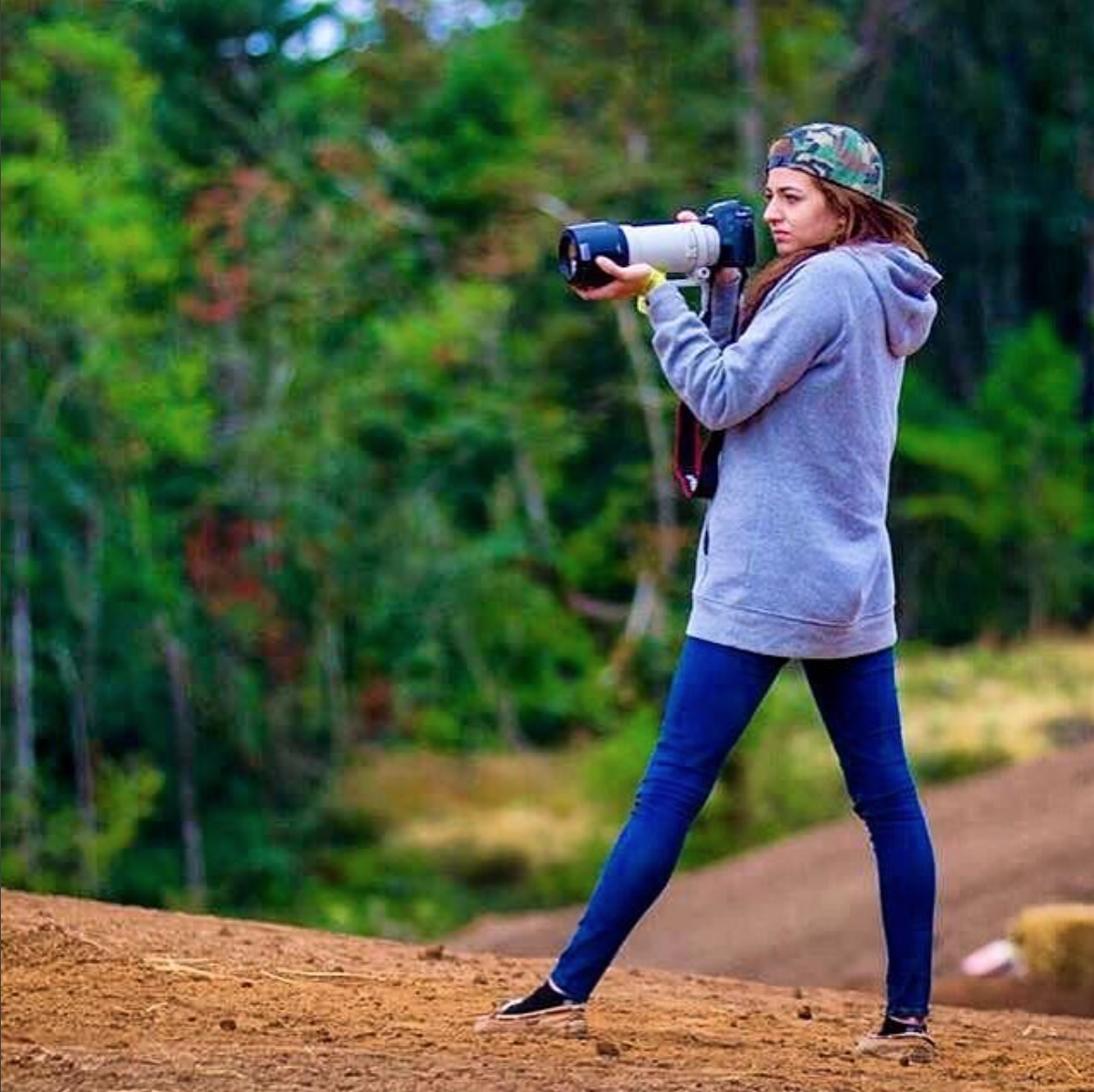 Crashley takes every opportunity to shoot and work on her craft.  There's never a wasted opportunity when you are pursuing your dreams.