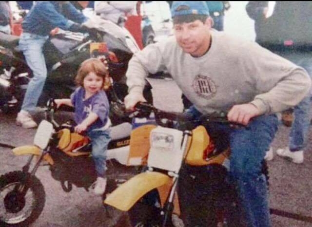Tayler's family has an extensive racing history in New England. Racing is in Tayler's blood and her connection to the industry has helped propel her into national recognition. Above Tayler and her dad Ken pose aboard some fresh Suzukis.
