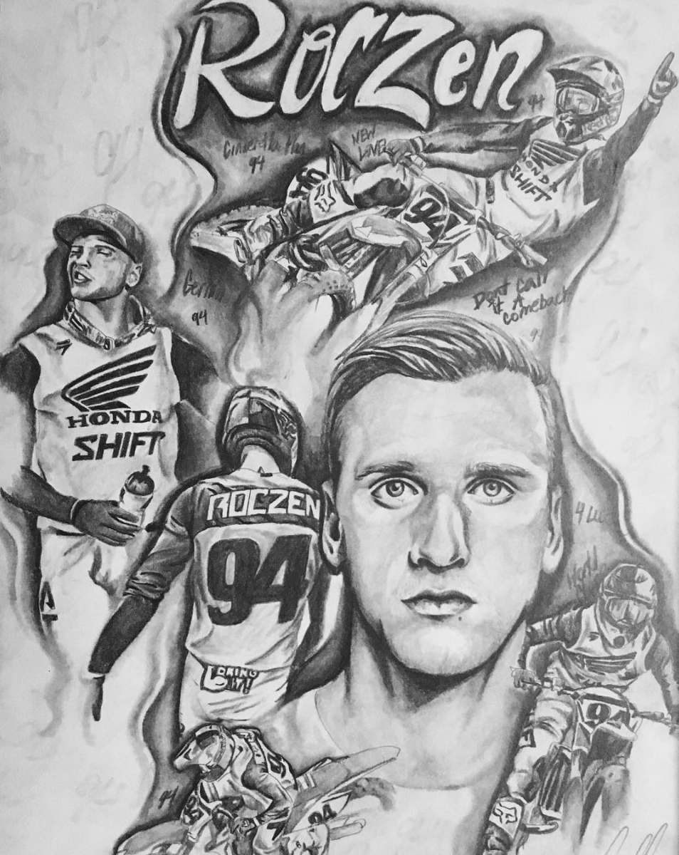Portraits and murals like this one is what helped propel Bee G Creations into being a household name in industry. Ken Roczen is among the many who recognize Bee G for the talent and style that they possess.