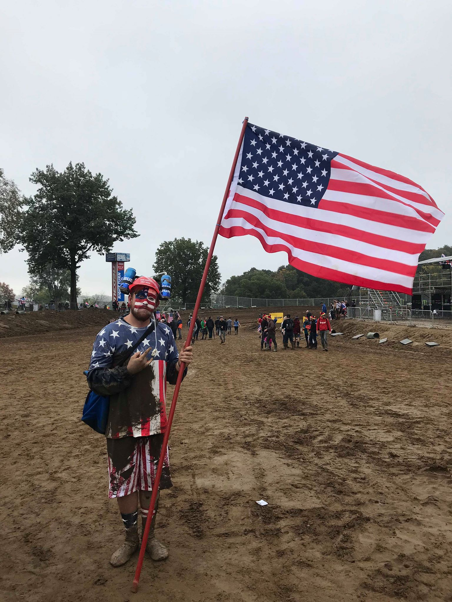 Dane Rouse himself took a break from building rad Honda two strokes to damn the red, white, and blue and represent for the gold oel USA.