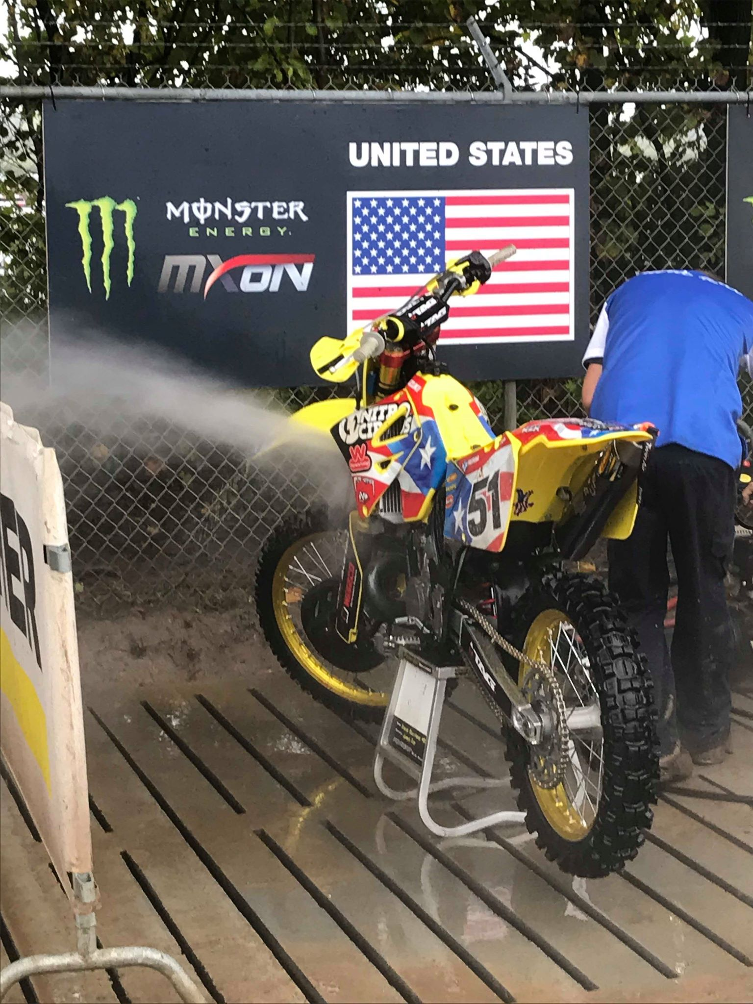 TP199 had quite possibly the most famous 2 stroke of all time absolutely singing around the track. After a much needed wash, the RM250 was primed and ready to ride.