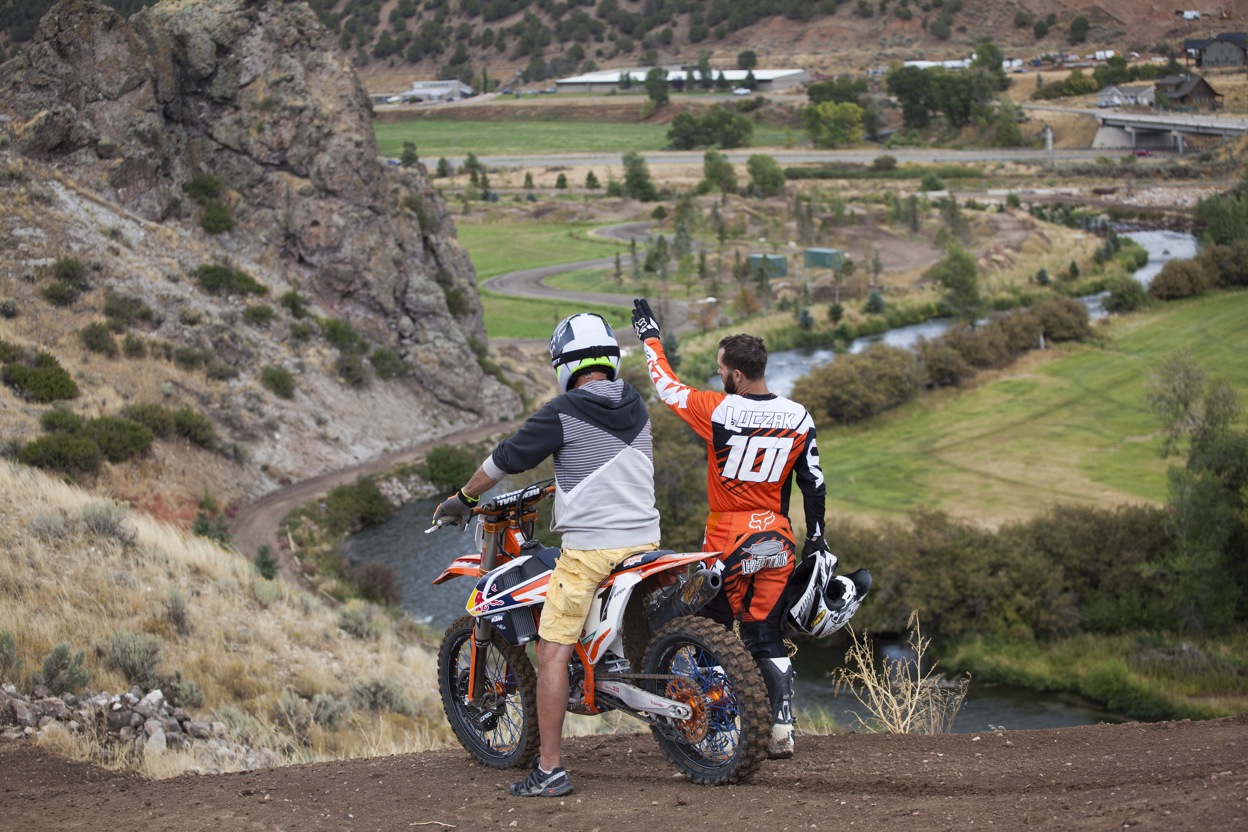 For Spencer and his family riding is very much a family affair. They have spent years turning their property into a Moto paradise. On any given ride day you can catch Spencer and his dad doing what they love…riding and perfecting their tracks.