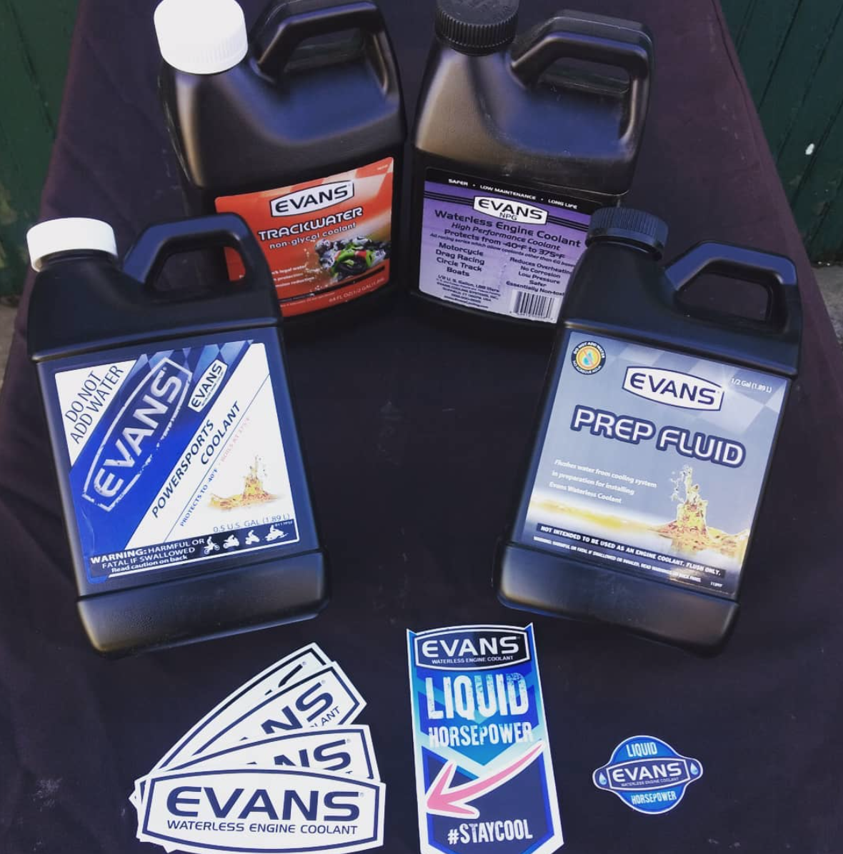 The Evans Powersport Coolant company makes a number of incredible products. They'll have whatever you need to keep your water-cooled ride going strong!