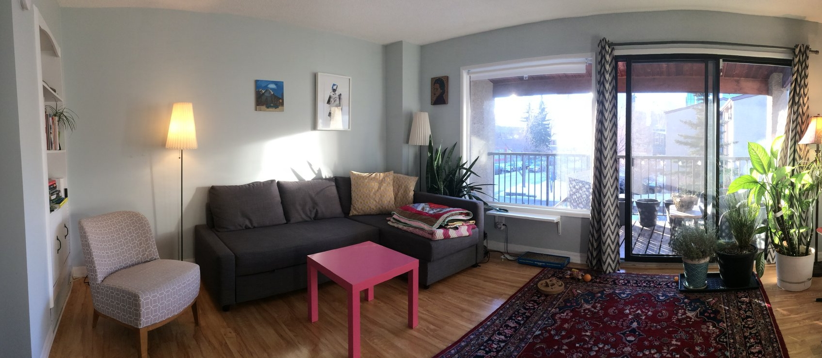 Living Room: Three Bedroom Unit