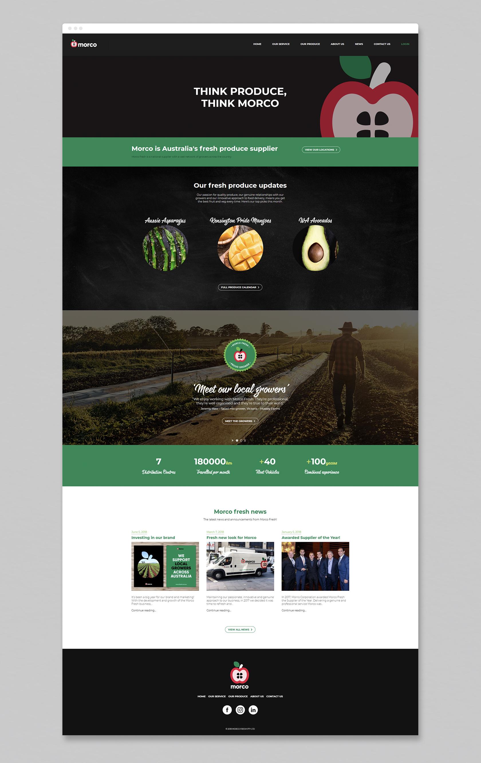Website scrolling homepage