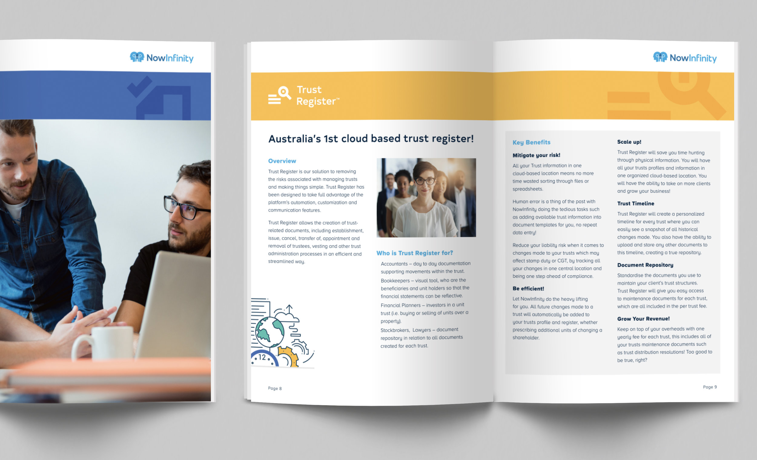 Product booklet design