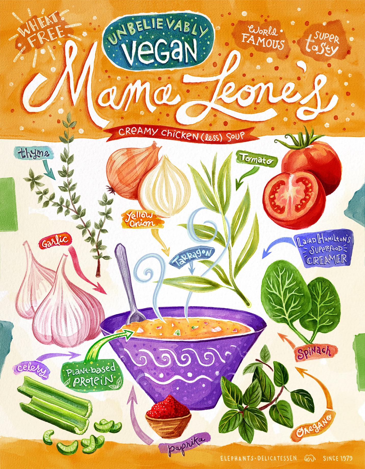Vegan Mama Leone's Soup Card
