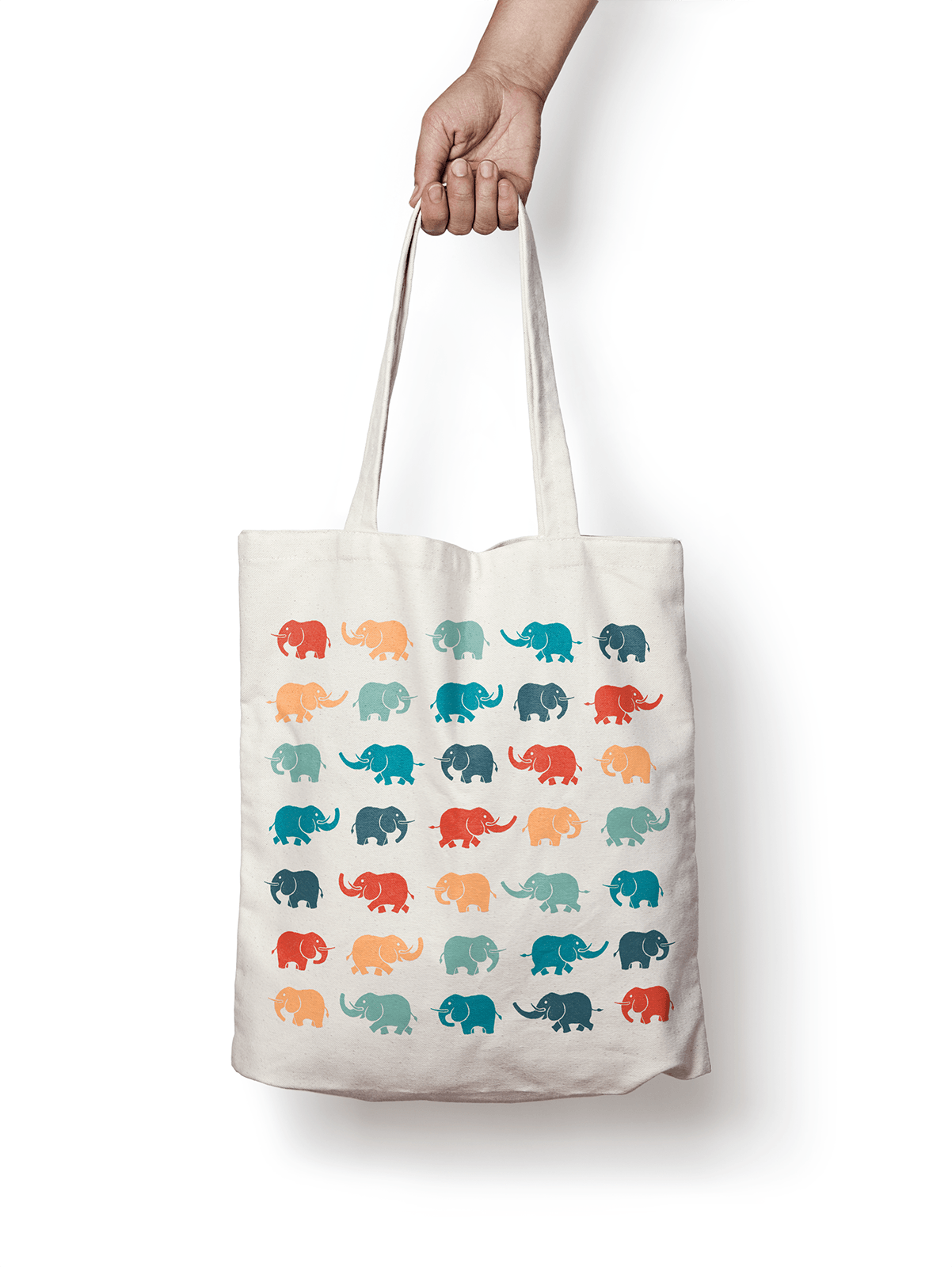 Pattern in use on a tote bag