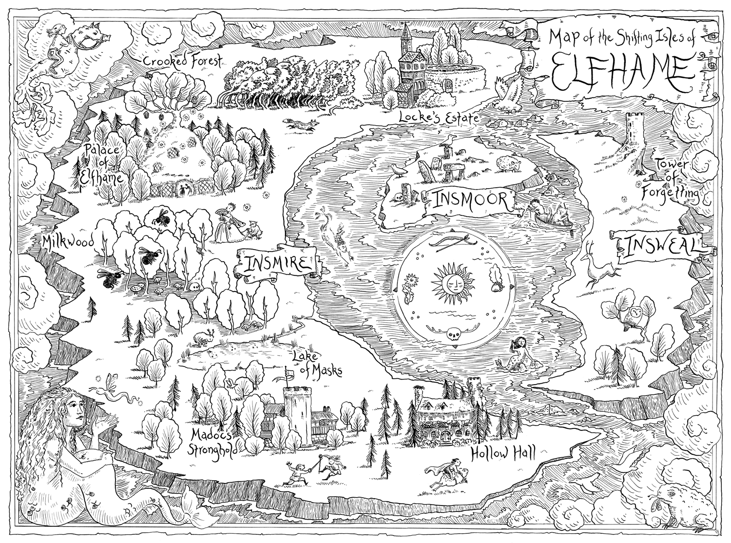 Map for  The Cruel Prince , by Holly Black. Little, Brown 2018.
