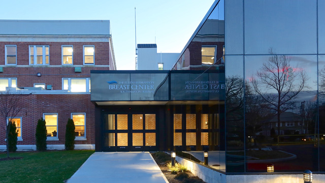 The new entrance to the Ellen Hermanson Breast Center at Southampton Hospital. (Photo: J. Heatley)