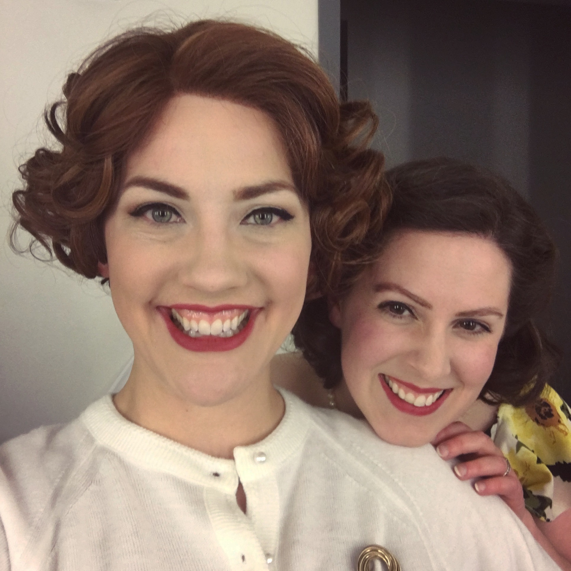 Myself and Julia Beers as Norma and Millie backstage at Perfect Arrangement.