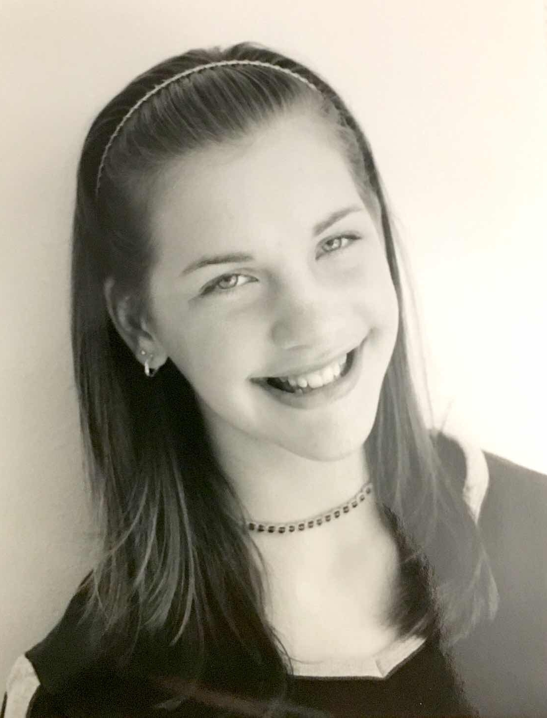 My very first headshots taken by my mom.  This is me at 12 years old!