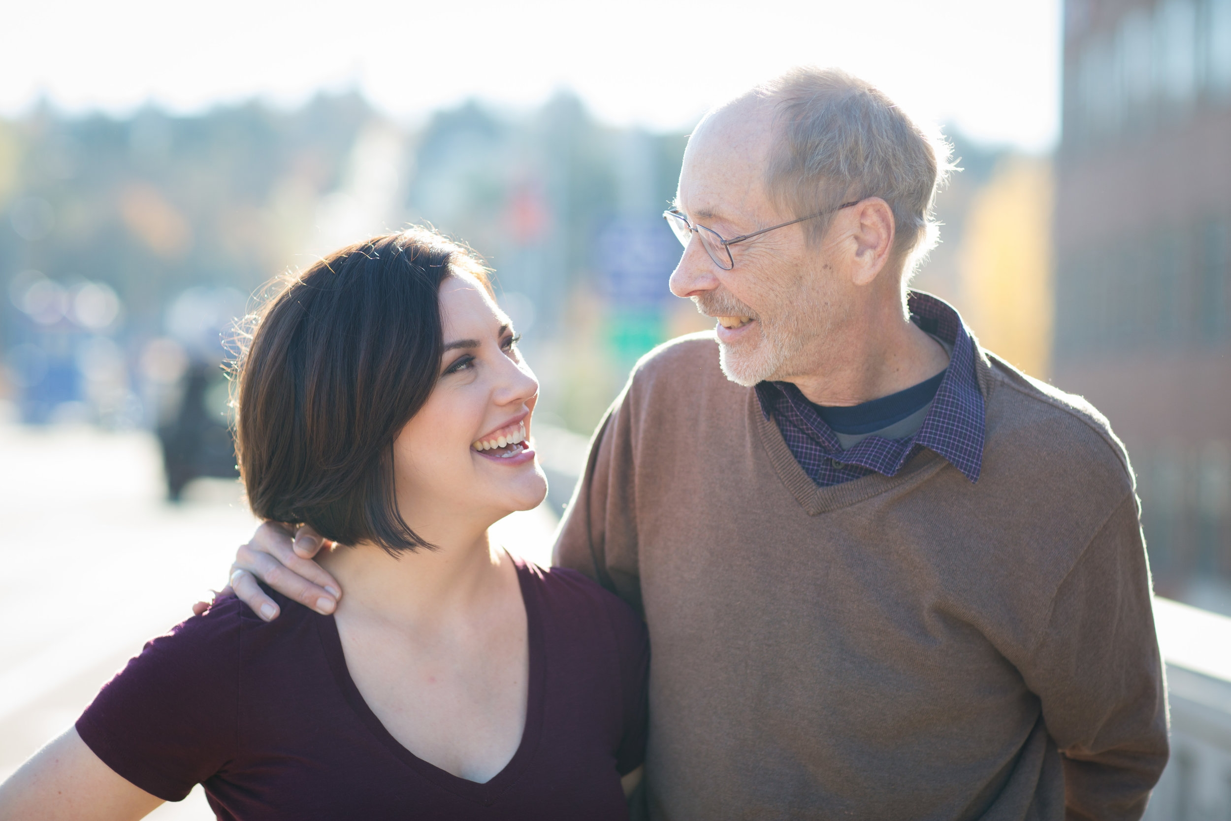 Me and my dad, after his diagnosis in 2016. Photo by Danielle Barnum