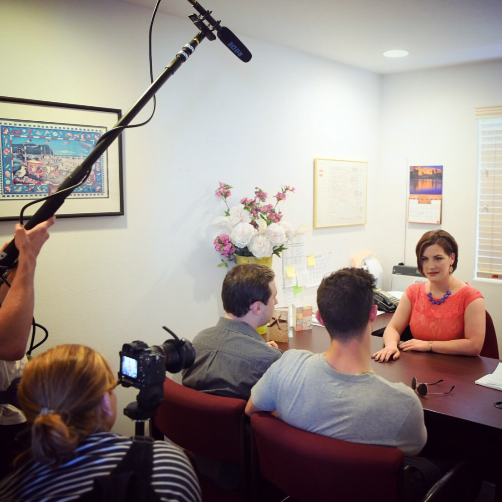 We shot in a John L. Scott real estate office for the mayor's office scenes.