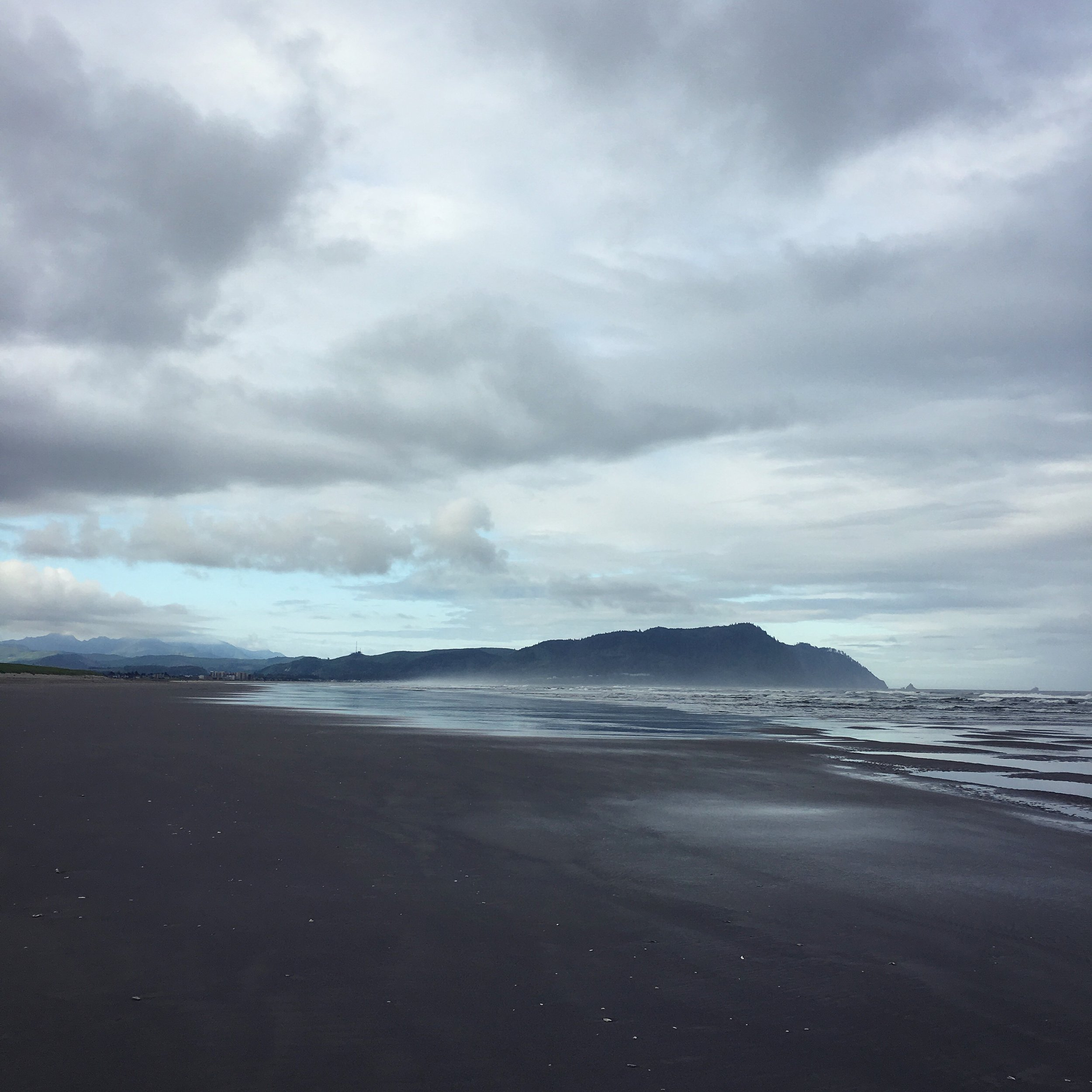 I woke up early the first morning, and got to walk on the moody gray beach. The solitude was so lovely.