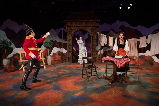 Beautiful photo by John Ulman, featuring scenic designer, Julia Welch's gorgeous set.