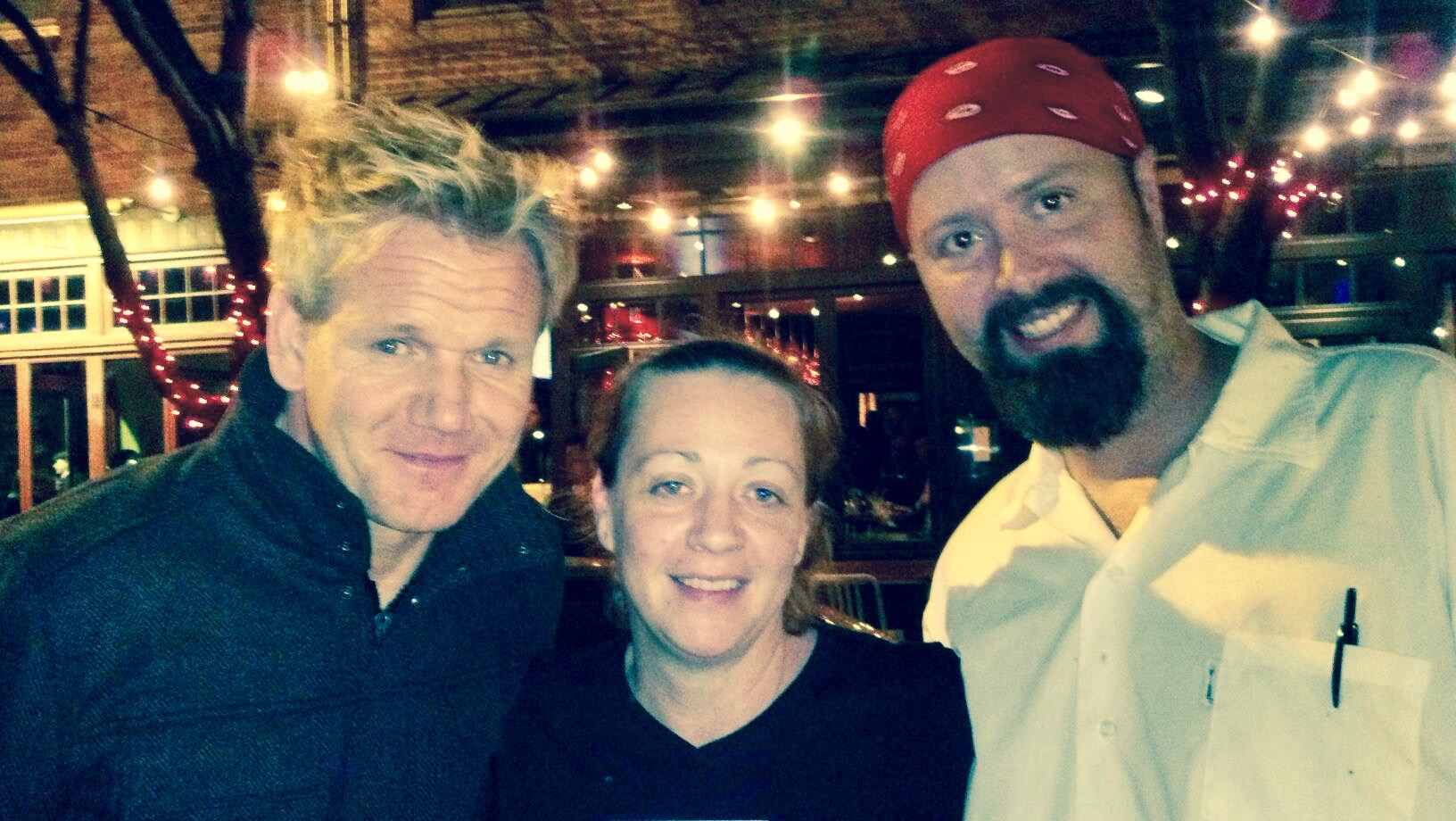 Gordon Ramsey with Owners Debra Ciasullo and David Hentz