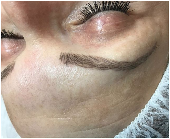 8 week healed microblading results before a light touchup!