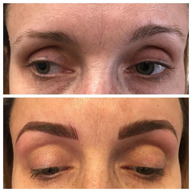 When cancer threatens to take your eyebrows you beat it to the punch.  We added hairstrokes and shading throughout so that they'll still look pretty and full when that day comes!  Pretty brows for an even prettier person, inside and out!