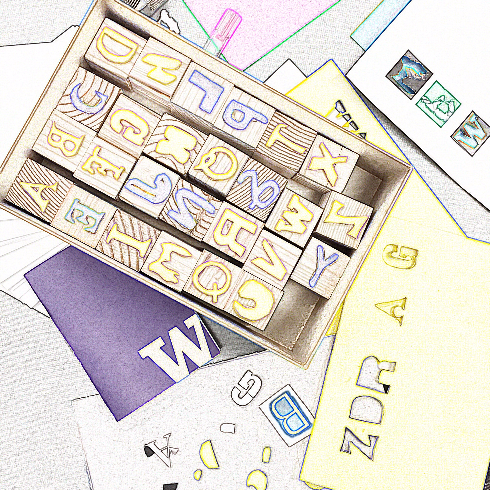 The making process of letter stamps