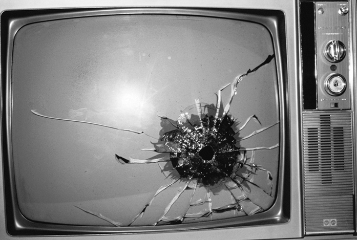 Elvis's TV with Bullet Hole, 2003